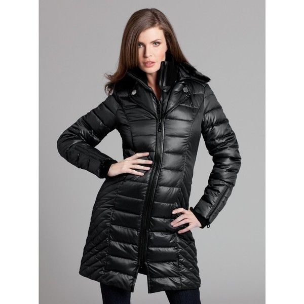 Guess By Marciano Gloria Puffer Coat Black Large 209