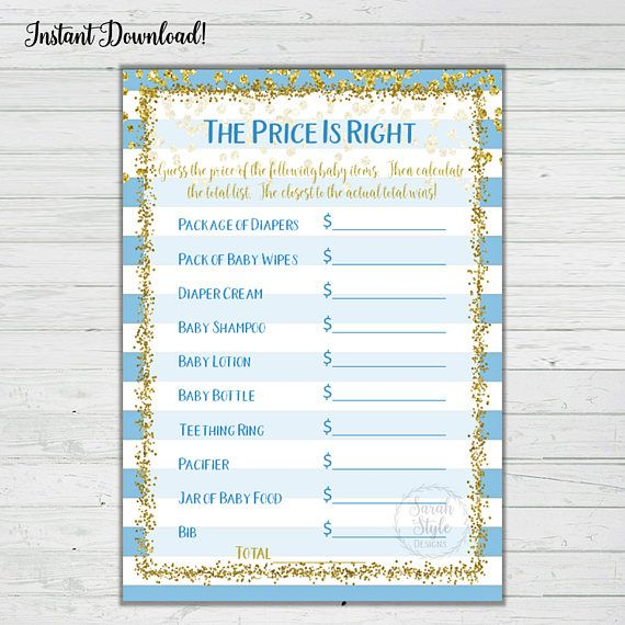 Price Is Right Baby Shower Game Instructions The Host Will Go Out