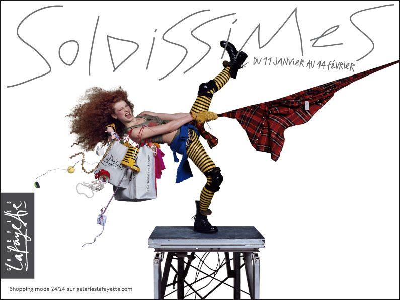 Soldissimes Guerilla Marketing, Retro Design, Jean Paul Goude, Galeries  Lafayette, Fashion Shoot 043a88e9a78