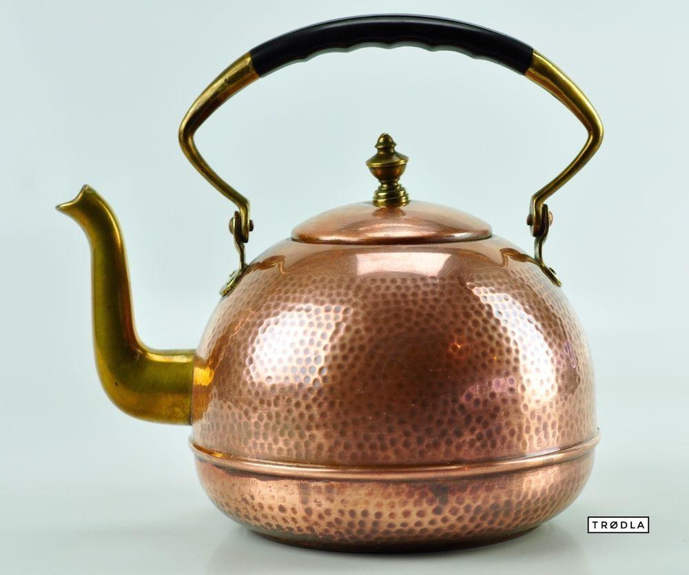 Teekanne Kupfer Messing Teekessel vintage copper brass teapot ...
