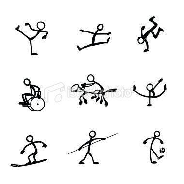 Stick Figure People Sports   Dibujar, Dibujo y Dibujos para niños