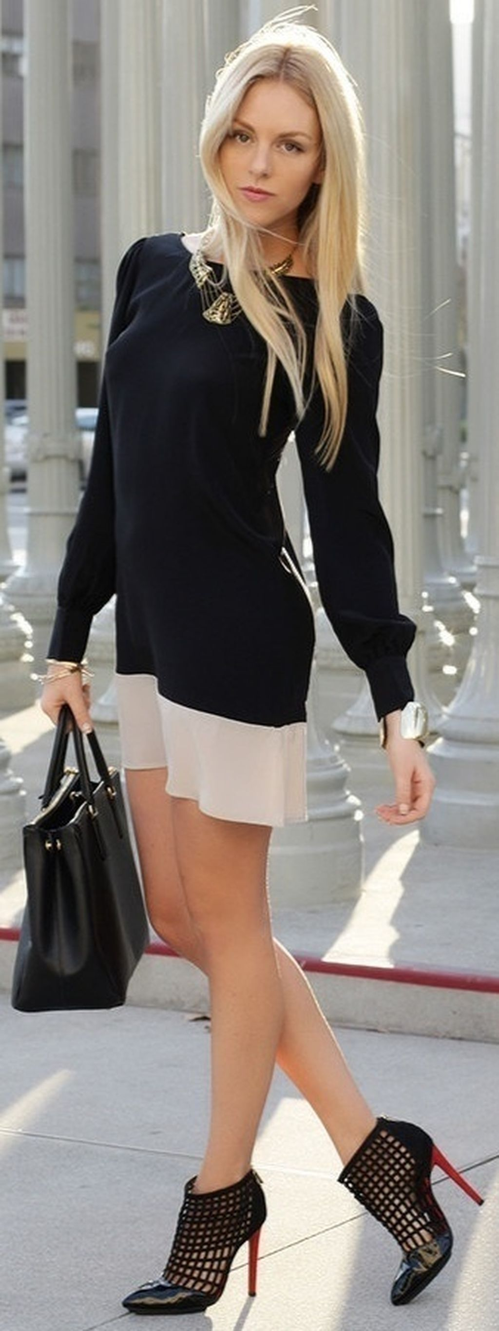 Cool classy and casual business outfits ideas with high heels