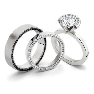 Milano Designer Mens Womens Platinum Wedding Rings My Ideal