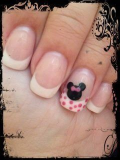 Minnie Mouse nail design by Samantha for my Disney cruise! | Nails ...