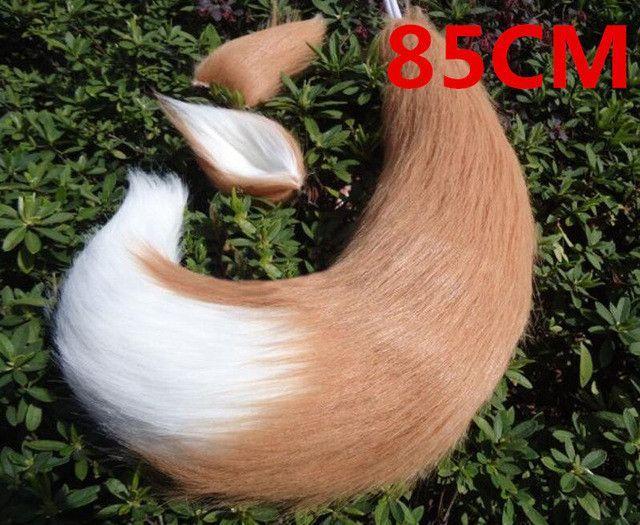 White Long Fur Ear Tail Cosplay Fox Tail Kamisama Kiss Kamisama Hajimemashita