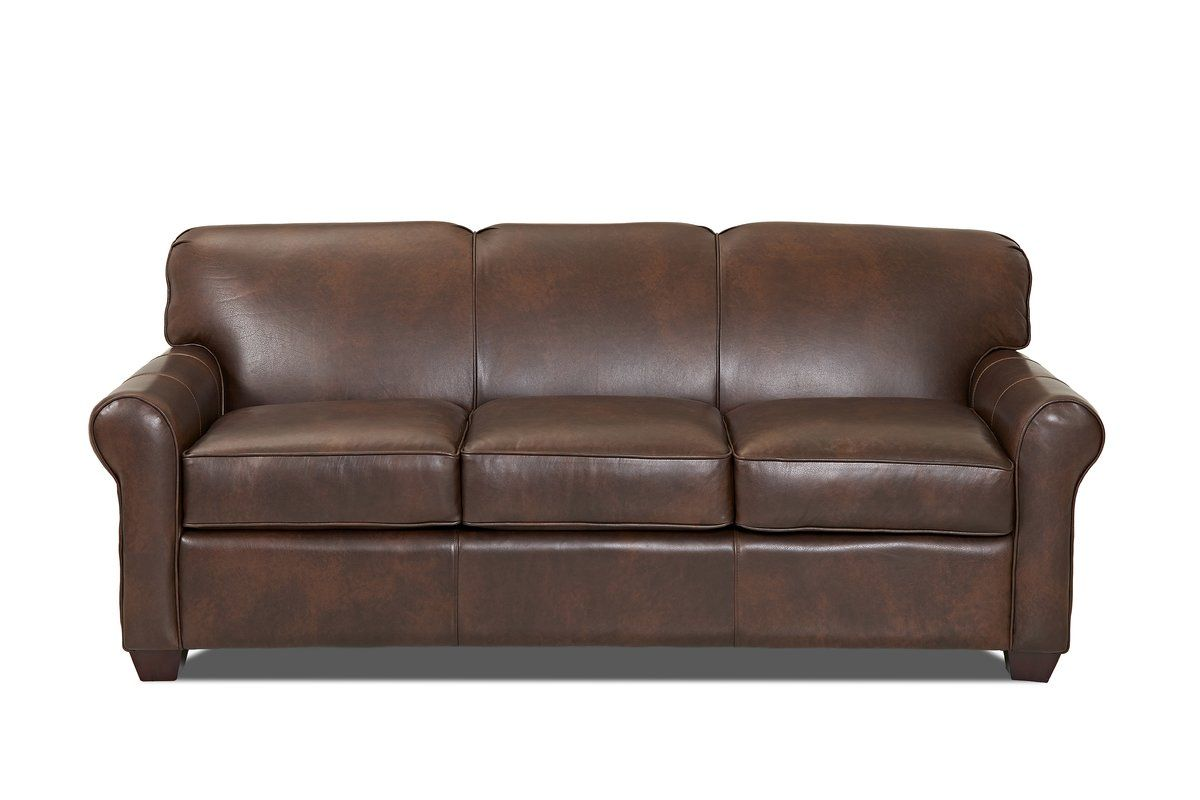 Jennifer Leather 81 Rolled Arms Sofa Bed Leather Sofa Bed Leather Sleeper Sofa Leather Sofa