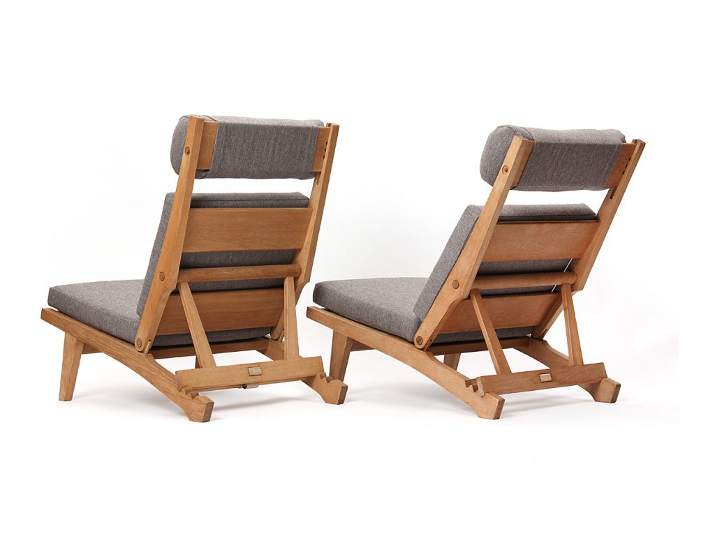 Antique lounge chairs - Low Lounge Chair By Hans J Wegner