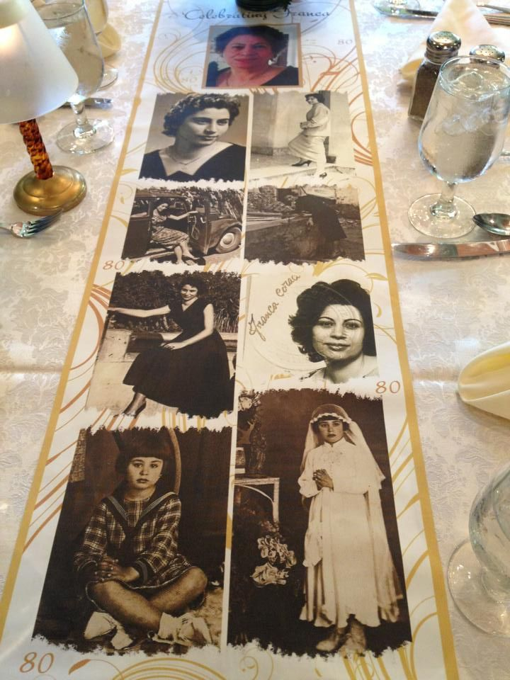 Have your own CUSTOM table runner made! They are made on a thin silky matte fabric... PERFECT FOR Sweet Sixteens'', Weddings, Bar/Bat Mitzvah's, Graduation parties, Milestone Birthdays, Anniversary parties, Corporate Events, Holiday gifts etc.    Email me at njoyinthis@aol.com or text my cell 917-848-7847  People WILL NOT BE ABLE TO STOP staring at them!  Gorgeous!