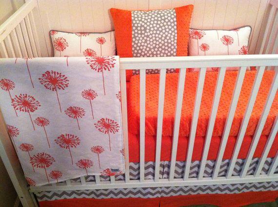 Perless Crib Bedding Set Gray And C Dandelion