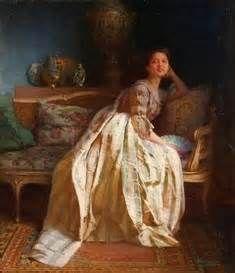 Viktor Schramm - A Young Beauty Wearing Silk