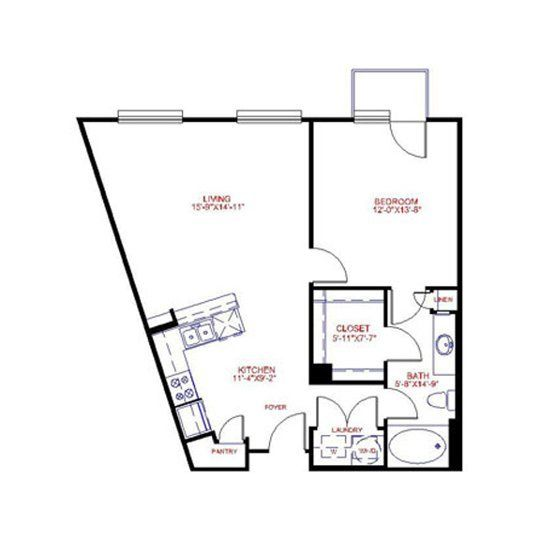 Furniture Layout Ideas For Trapezoidal Room?