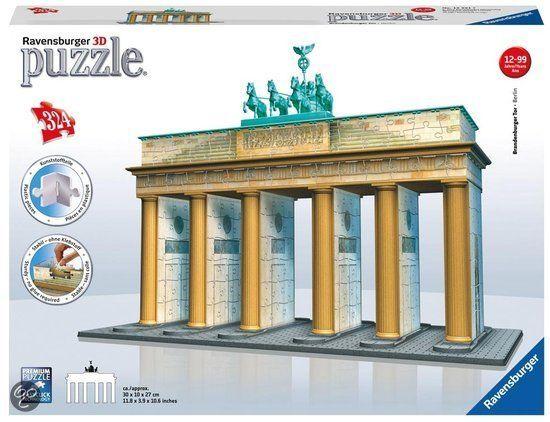 Ravensburger Brandenburger Tor 3d Puzzel Gebouw Van 324 Stukjes Gebouwen Toren Bouw