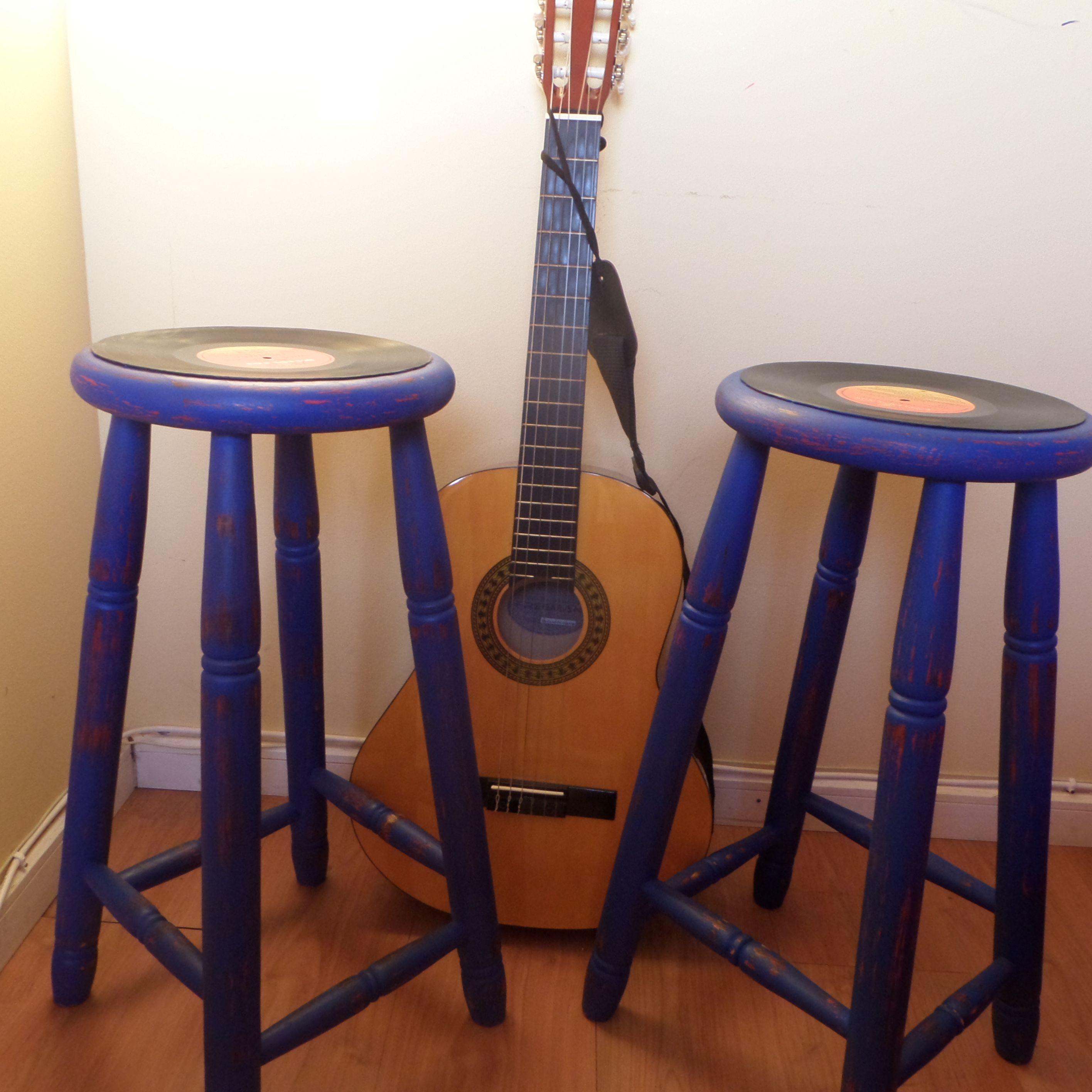 Taburetes Con Discos De Vinilo Muebles Para Siempre, Antofagasta,