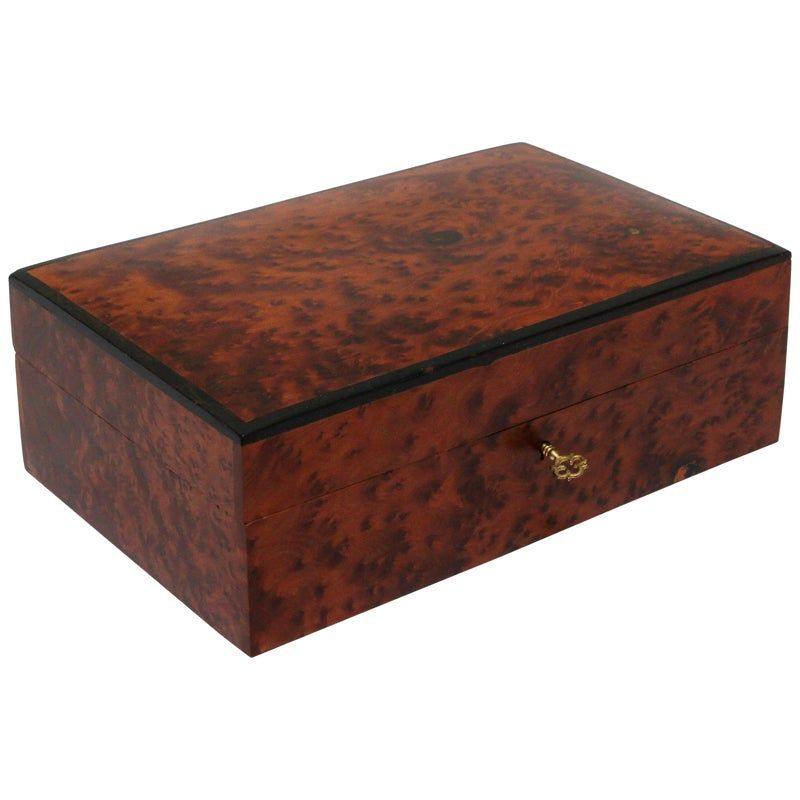 Moroccan Handcrafted Thuya Wood Jewelry Box Moroccan Handcrafted Thuya Wood Jewelry Box