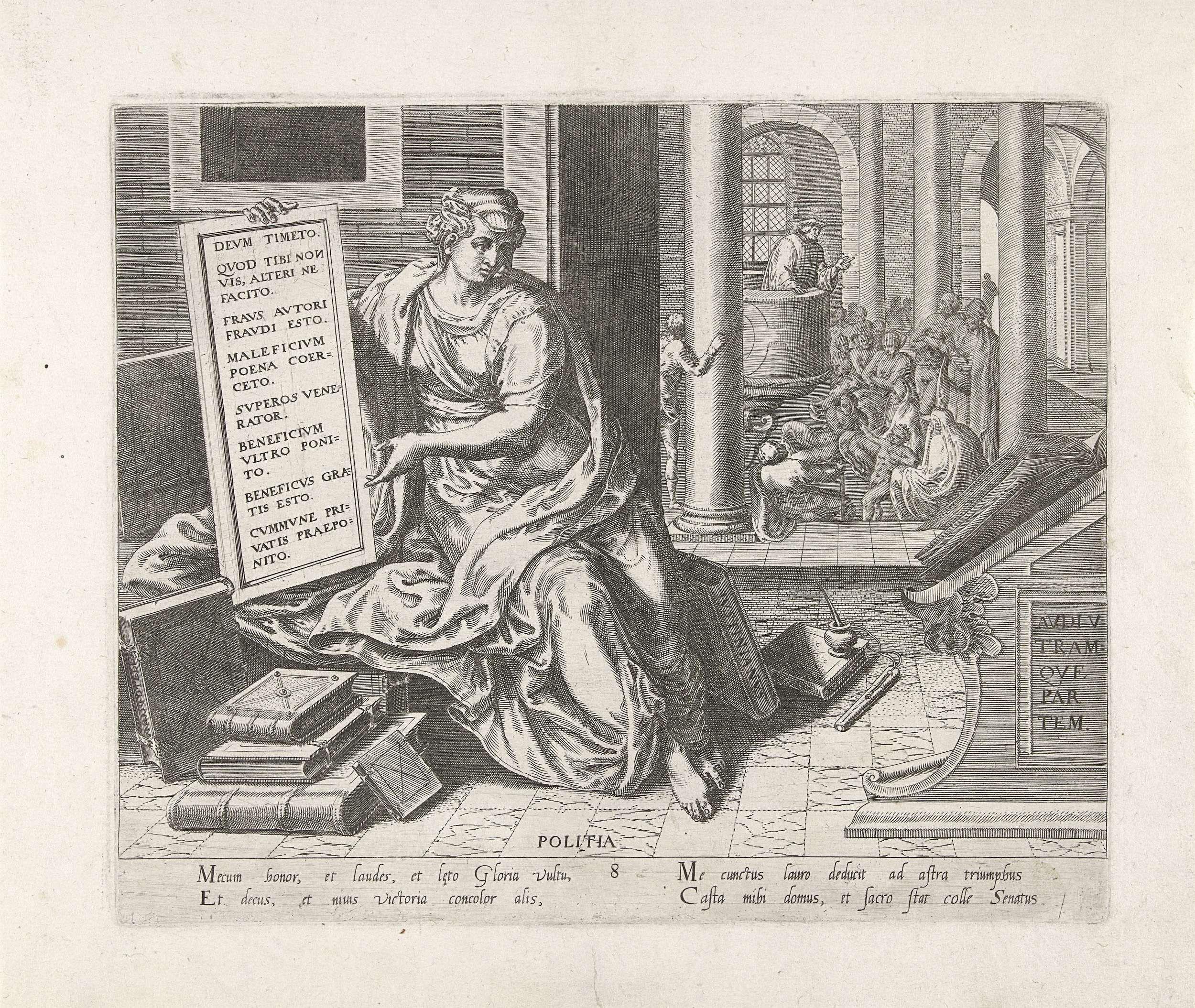Staatskunde, Philips Galle, Hugo Favolius, 1574 - 1575
