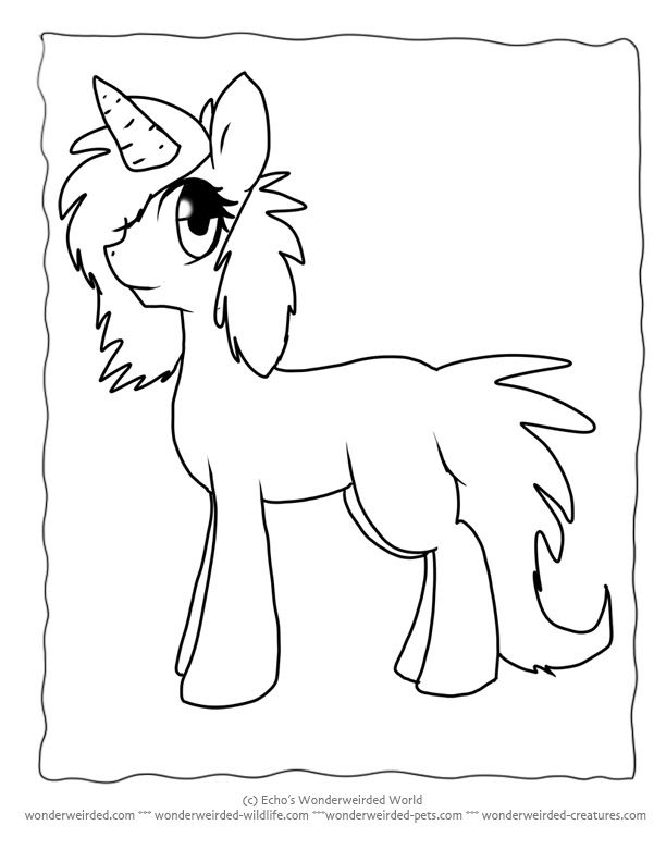 Awesome Cartoon Unicorn Coloring Pages Echos Perfect For ...
