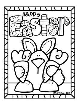 FREE Easter Bunny COLORING PAGE (P4 Clips Trioriginals ...