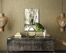 Beibehang Hoge kwaliteit groene 3D behang linnen textuur behang 3d ...