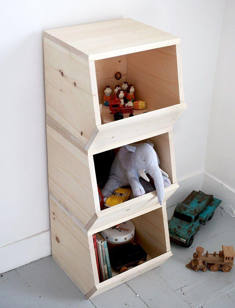 Wunderbar Inspiration // 12 Einfach DIY Ideen Aus Holz Fürs Kinderzimmer Und Den Rest  Der Wohnung. Spielzeugaufbewahrung, Holzschaukel Und Kindertisch Selbst  Machen