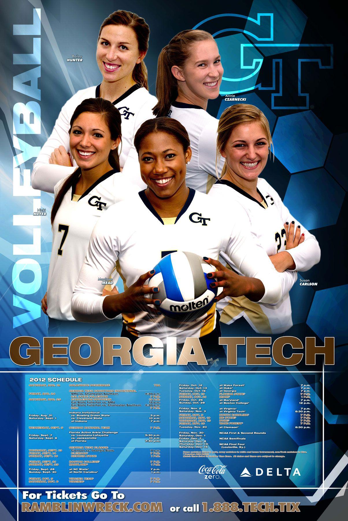 2012 Georgia Tech Volleyball Poster Copa America Centenario Copa America 2016 Volleyball Posters