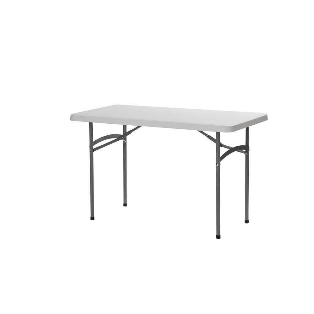 Sandusky 48 In White Plastic Portable Folding Utility Table Pt4824 Table Plastic Tables Tailgate Table