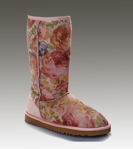 Uggs Classic Tall Romantic Flower Boots .....too cute I WANT!