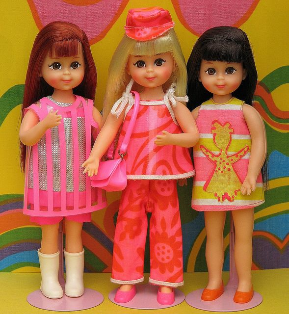 1967 Chris Fun-Timers Set (Sears Exclusive) #3301; the standard Chris doll and original outfit came with this set of 3 outfits