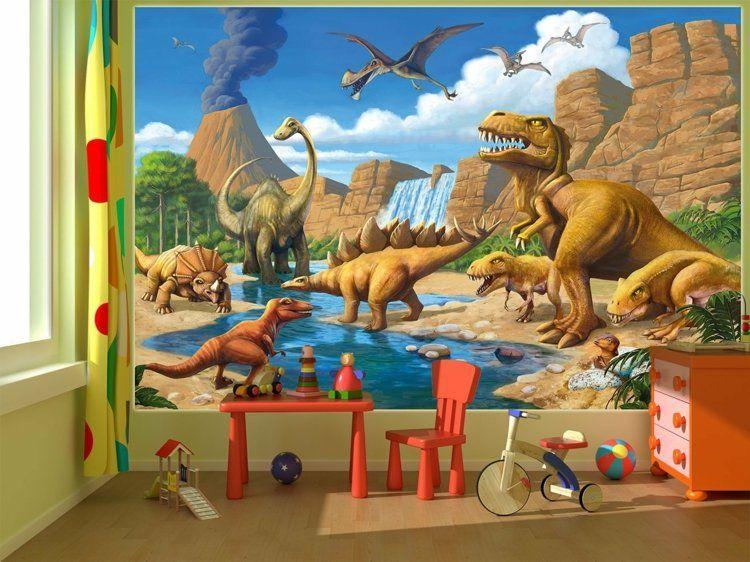Luxury Wanddeko im Kinderzimmer Fototapete mit Dinosaurier