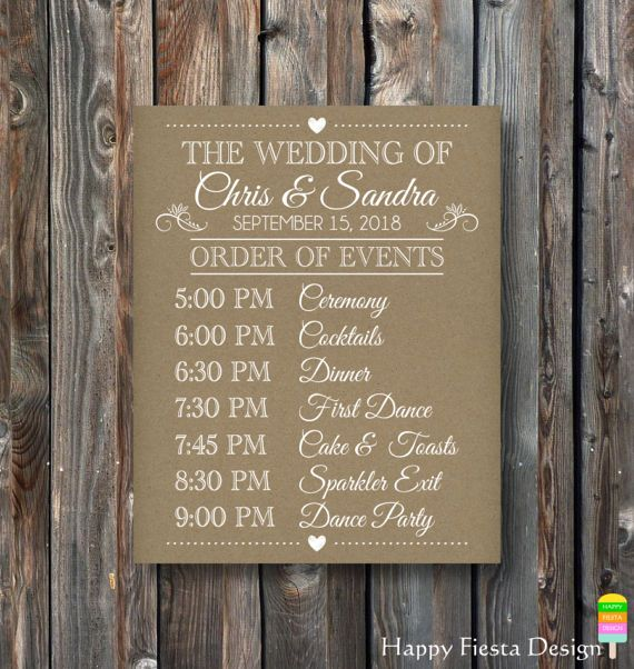 Printable Order Of Events Sign Wedding Day Schedule Printable Wedding Sign Rustic Wedding Wedding Timeline Sign Wedding Itinerary Sign Printable Wedding Sign Rustic Wedding Signs Wedding Day Schedule
