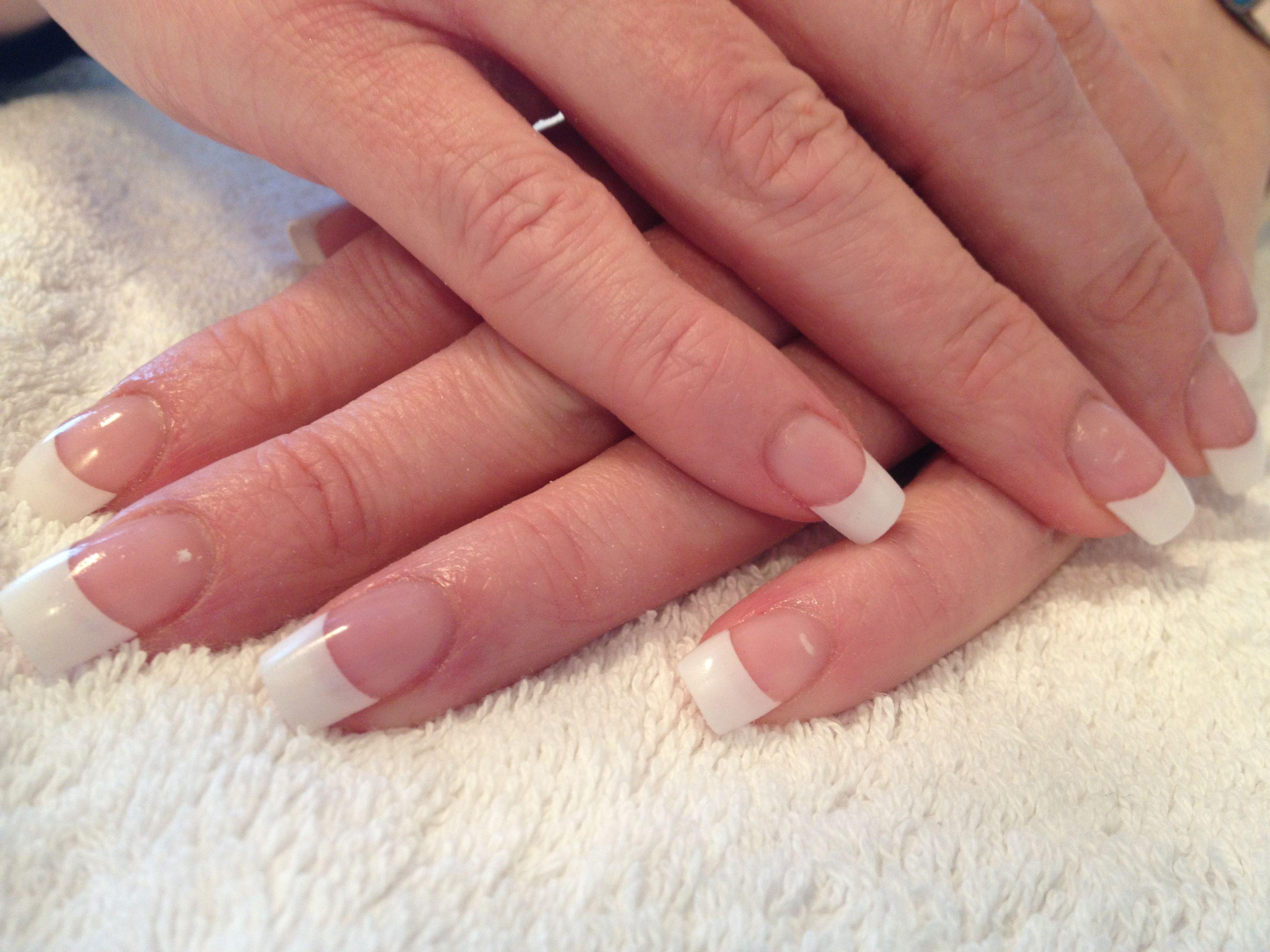French white tip acrylic nails | Polished nail | Pinterest