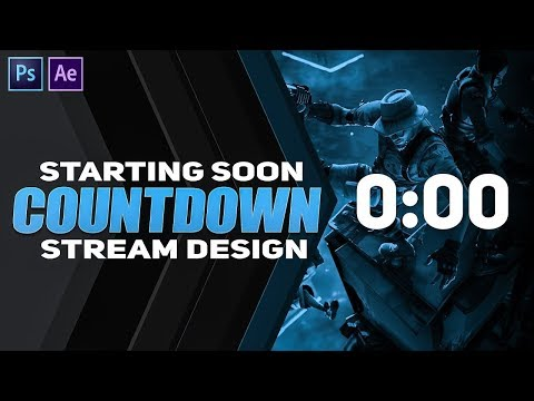 5 Creating A Twitch Yt Countdown Starting Soon Screen In Ps Ae Youtube Twitch Website Inspiration Create Your Website