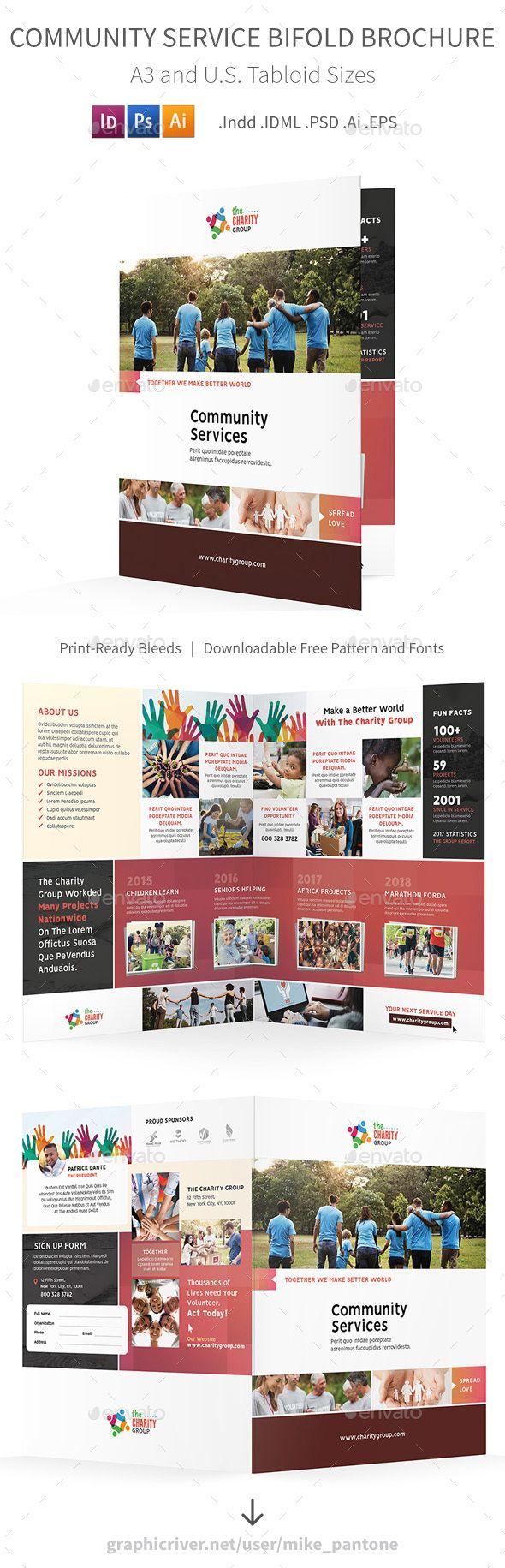 Community Service Bifold / Halffold Brochure 2