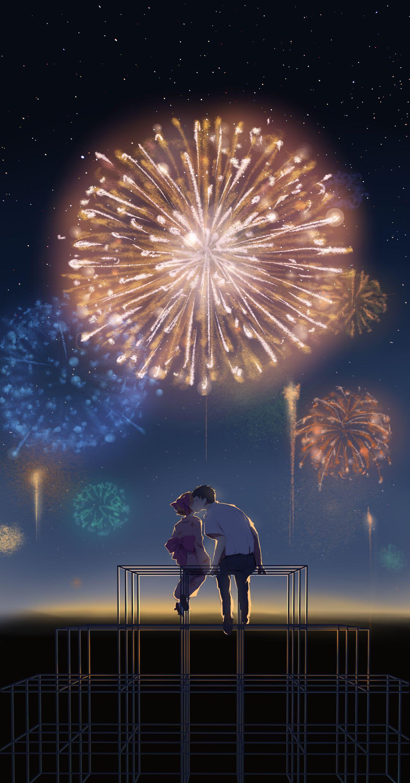 Anime Animegirl Anime Scenery Anime Background Anime Wallpaper Fireworks anime hd wallpaper