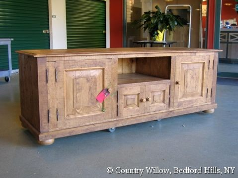 Custom Entertainment Media Console With Closed Storage And Bun