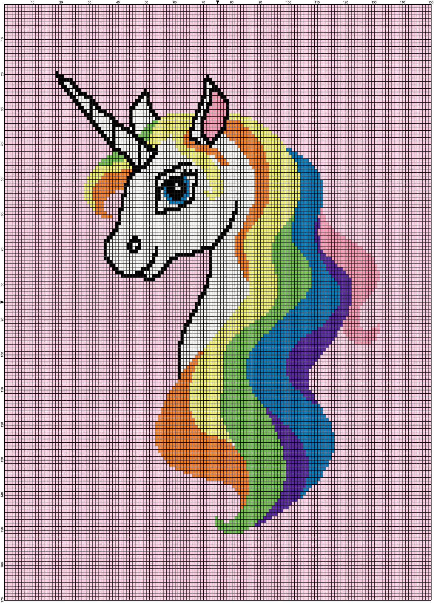 Unicorn c2c | Crochet unicorn blanket, Crochet unicorn ...