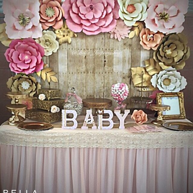 Baby Shower Backdrop U0026 Dessert Table Details   Pre Sweets.  @bella_impressions U2022 Paper