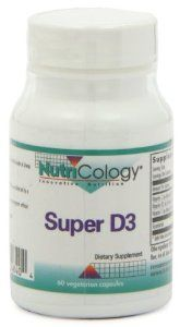 Nutricology Super D3, Vegicaps, 60-Count by Nutricology. $9.99. Dietary supplement. Utilization of essential fatty acids. Developed by Dr Leo Galland. Product Information from Nutricology Innovative Nutrition Now In Vegicaps Dietary Supplement Super D3 Vitamin D3 supports calcium metabolism and absorption. Suggested Use As a dietary supplement, 1 capsule daily, or as directed by a healthcare practitioner. Supplement Facts Supplement Facts Serving Size: 1 Capsule Serving...