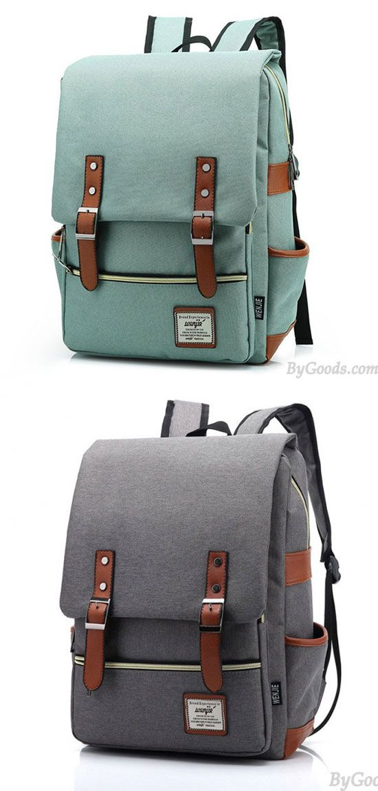 ad38be124937 Vintage Travel Backpack Leisure Canvas With Leather Backpack Schoolbag is  your perfect choice.  backpack  bag  school  rucksack  college  girl