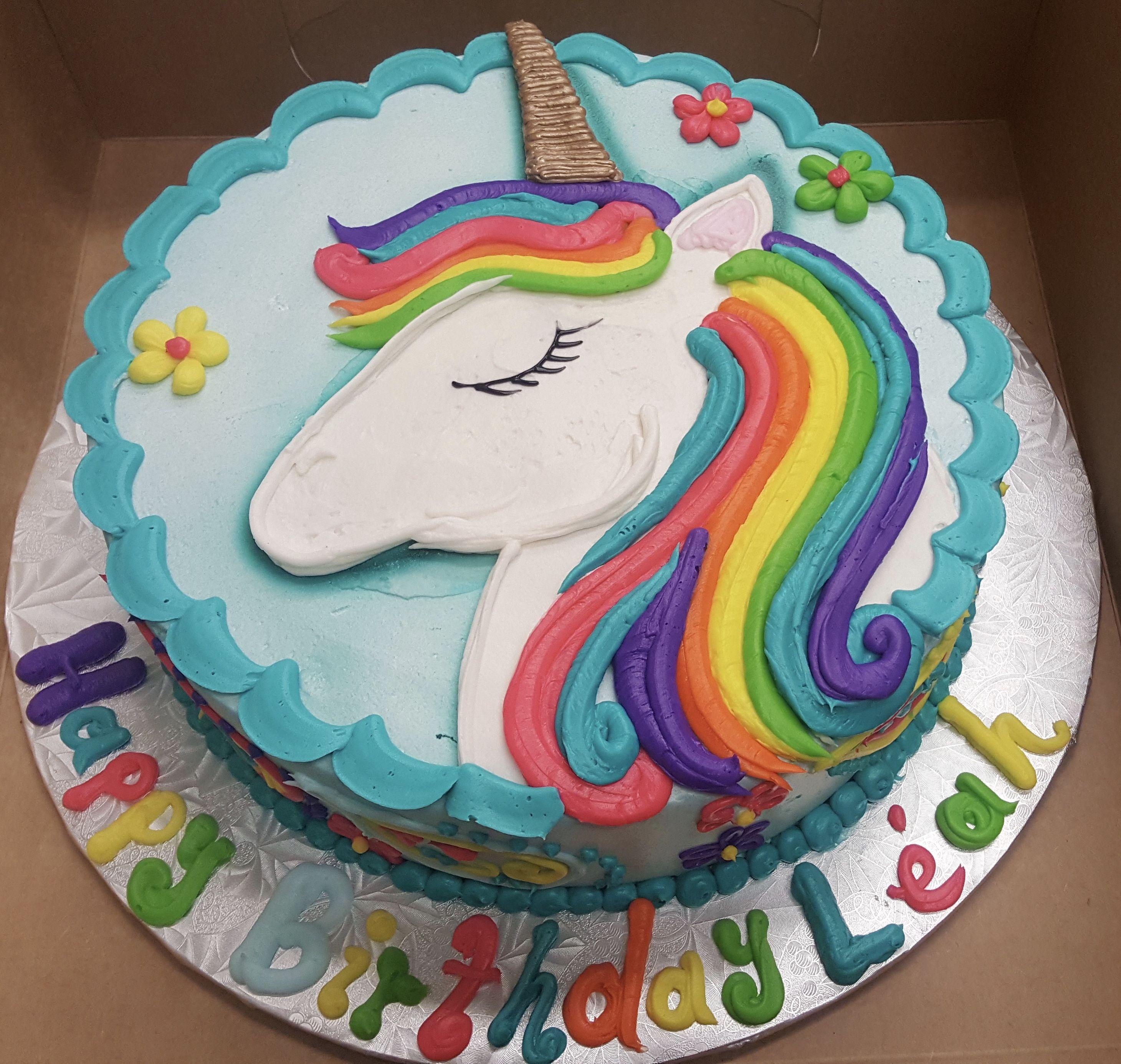 Calumet Bakery Unicorn Drawing Cake Unicorn Birthday Cake