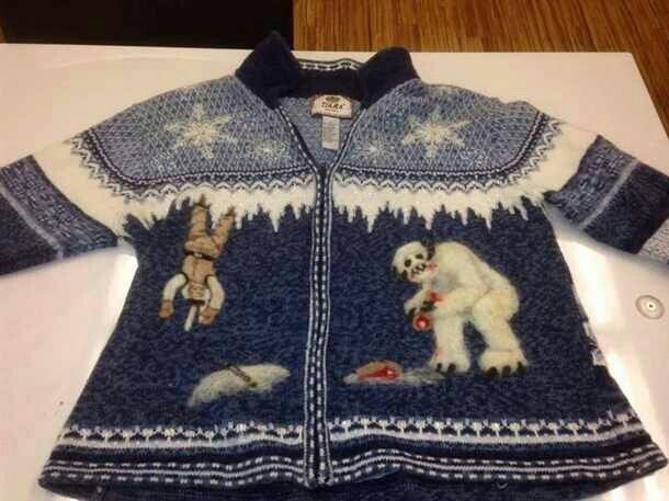 Hands down, the best ugly Christmas sweater ever! Star Wars