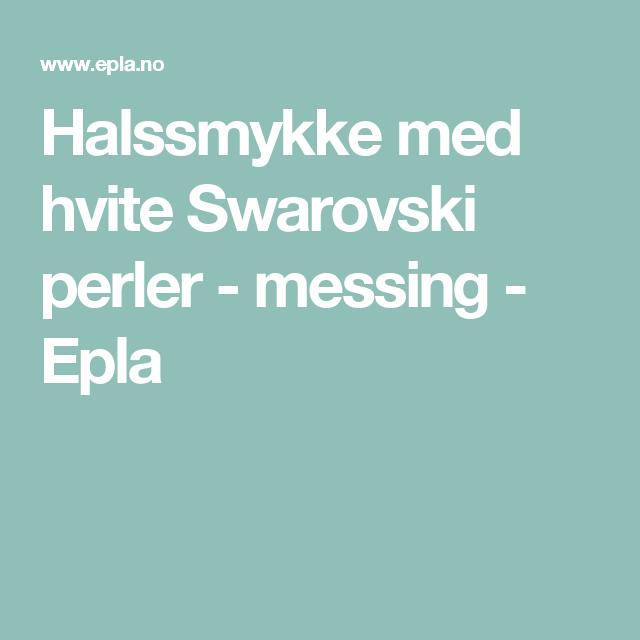 Halssmykke med hvite Swarovski perler - messing - Epla