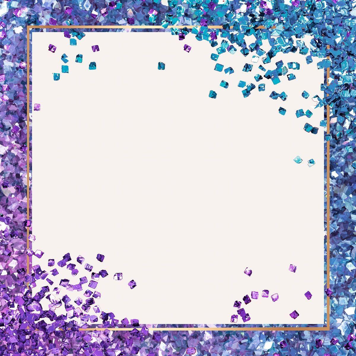 Purple Glitter Border Page Borders Borders For Paper Clip Art