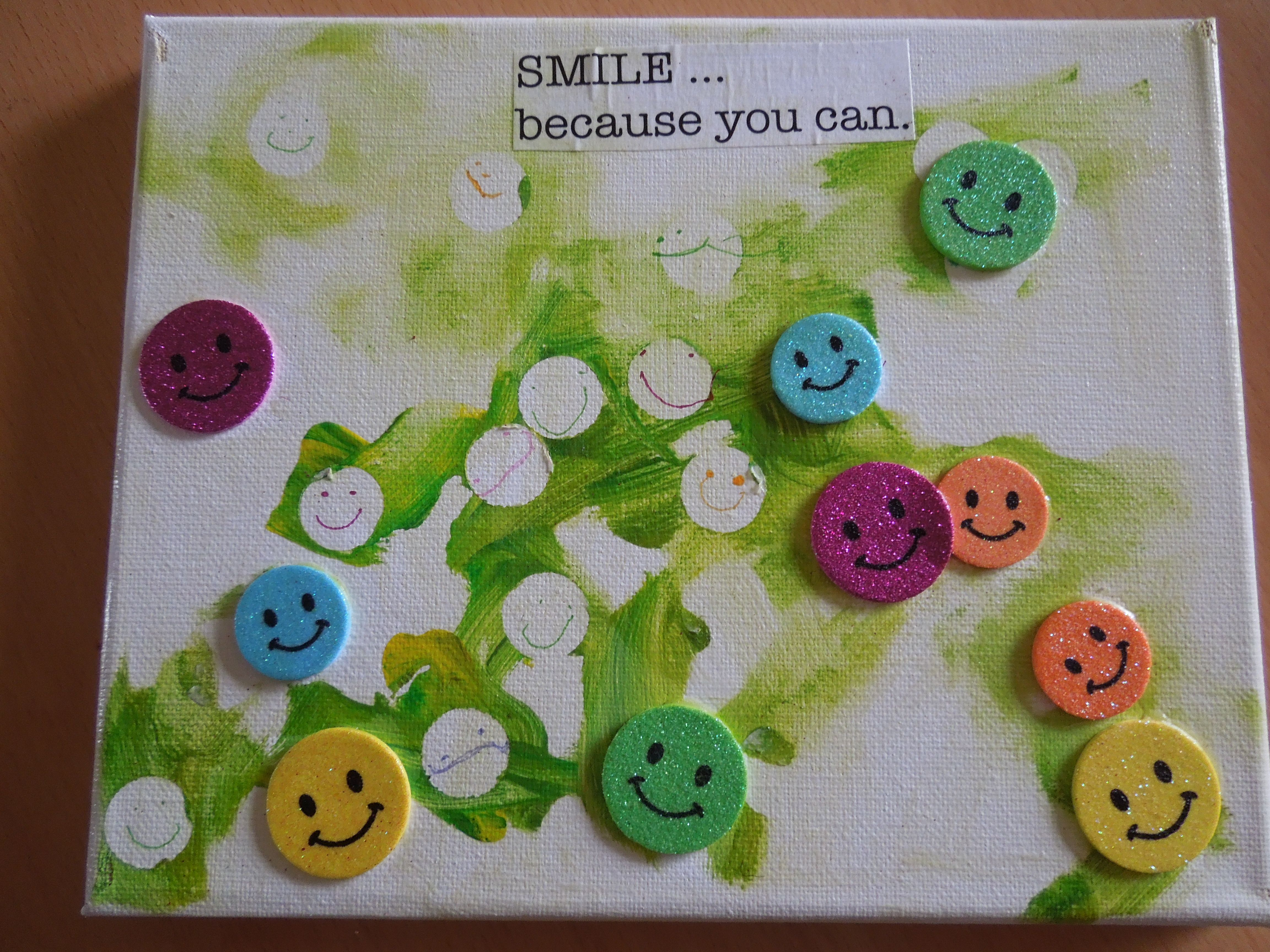 Sticker Dot Resist Painting ... Share A Smile!