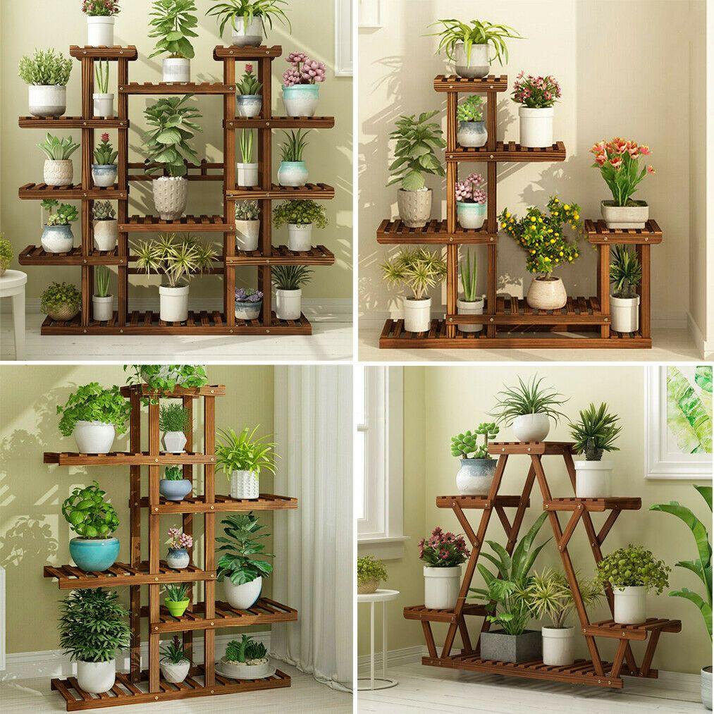 13+ Yard, Garden & Outdoor Living Bamboo Multi Tier Plant Stand Flower ... Bilder