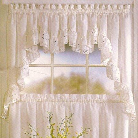 Vienna 54 X 24 Window Curtain Cafe Kitchen Tier Pair Natural Walmart Com Valance Curtains Swag Curtains