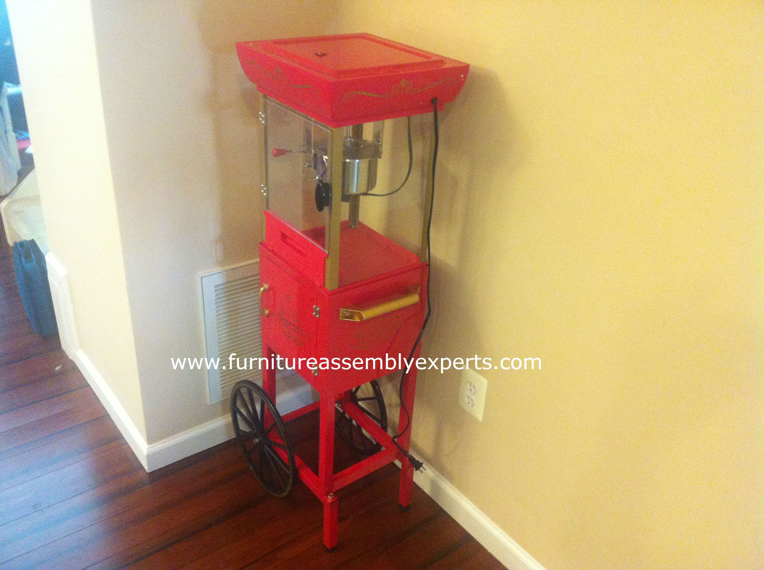 Walmart Nostalgia Electrics Vintage Collection Popcorn Cart Assembled In  Fairfax VA By Furniture Assembly Experts LLC