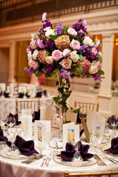 Wedding Ideas By Color Purple Wedding Centerpieces Wedding