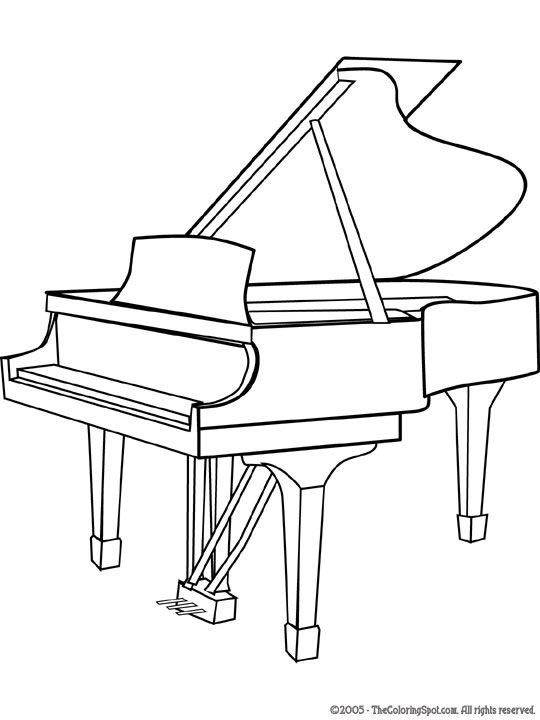 Piano Colouring Sheet Musical Instruments Musicals Music Coloring