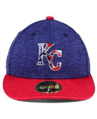 hot sale online 022b7 4c340 New Era Kansas City Royals Low Profile Stars   Stripes 59FIFTY Cap -  Navy Red 7 5 8