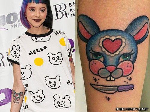 Melanie Martinez Bunny Tattoo Melanie Martinez Bunny Tattoos Cry Baby